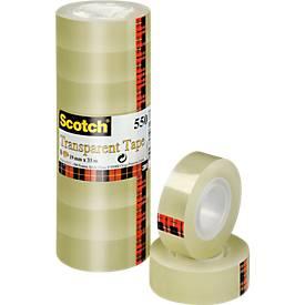 Scotch Cristal plakband, 19mm x 33m, 8 rol