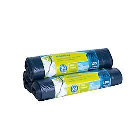 Secolan® ecologische vuilniszakken, 120 liter, blauw, 10 stuks