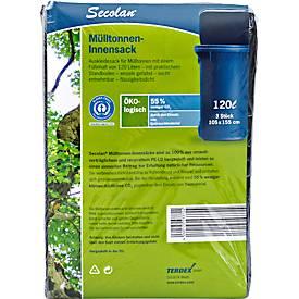 Secolan® Mülltonnen-Innensack, mit Standboden, Material Recycling-Polyethylen, 1 Liter