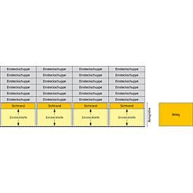 Selbstklebende Transparentstreifen,1-53/Jan-Dez.,f. ORGATEX-Tafeln