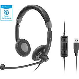 Sennheiser Headset SC 70 USB MS BLACK, binaural, kabelgebunden, für Profis