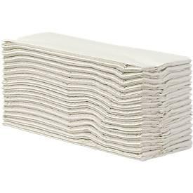 Serviettes pliées, papier tissu, 2 couches, pliage en C, blanc naturel, 2400 feuilles