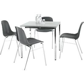 SET 4 stoelen BETA, antraciet + tafel