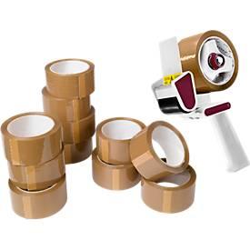 Set avantageux : 12 rouleaux d'emballage, 55 mm x 60 m + 1 dérouleur, gratuit