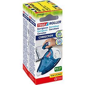 Set avantageux:  tesa® roller de correction ecoLogo®, rechargeable, 2 pièces