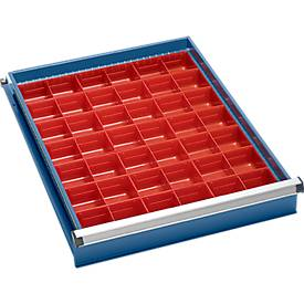 Set de bacs-insert (42 pièces) pour armoire à tiroirs l. 550 mm