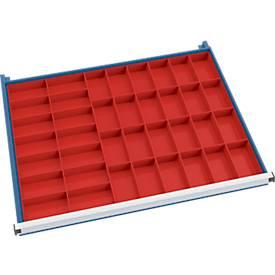 Set de bacs-inserts (38 pièces) pour armoire à tiroirs l. 910 mm