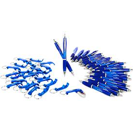 SET Open, 400teilig, inkl. einfarbigem Werbedruck, blau