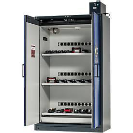 Sicherheitsschrank Battery Charge, 3 Gitter + Steckdosen, 1 Auffangwanne, B 1193 x T 615 x H 2224 mm