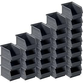 Sichtlagerkasten 14/7-4, recycelter Kunststoff, 25 Stück, 2,6 l
