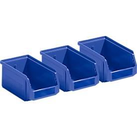 Sichtlagerkästen LF 211, 3 Stück, Kunststoff, 0,9 l