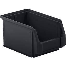 Sichtlagerkasten LF 221, recycelter Kunststoff, 25 Stück, 2,7 l