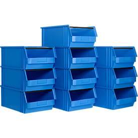 Sichtlagerkasten mit Tragestab SSI Schäfer TF 14/7-2, Polyethylen, L 510 x B 320 x H 200 mm, 23 l, blau, ab 1 Stück
