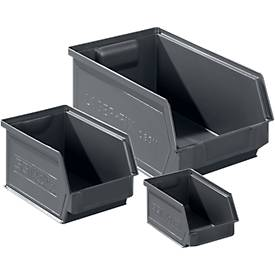 Sichtlagerkasten Serie 14/7 SET, Kunststoff, 64 Stück, verschiedene Größen