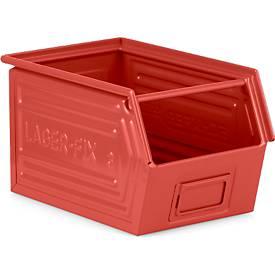 Sichtlagerkasten Serie LF 14/7-3, Stahl, Inhalt 11,5 L, für Transport schwerer Güter