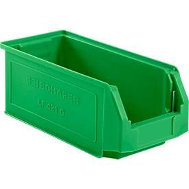 Sichtlagerkasten Serie LF 421, aus PP-Kunststoff, Inhalt 7,8 L, für Lagerbereich