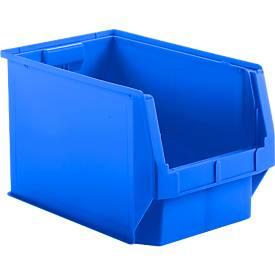 Sichtlagerkasten-Set LF 533, Kunststoff, Fassungsvermögen 38 L, 5er-Set