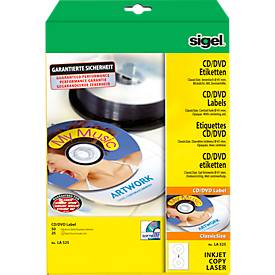 sigel® CD/DVD-Etiketten (LA 525) ClassicSize