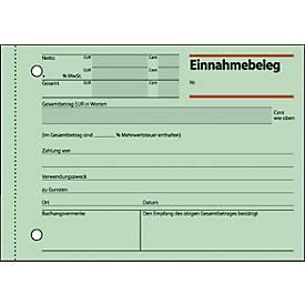 sigel® Einnahmebeleg EB615, DIN A 6 quer, 50 Blatt, grün