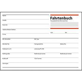 sigel® Fahrtenbuch für PKW FA614, DIN A6 quer, 32 Blatt