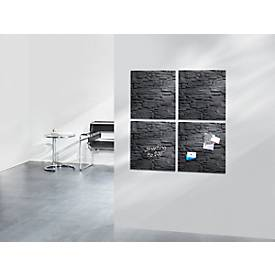 sigel® Glas-Magnettafel artverum®, 480 x 480 mm, Schiefer-Stone