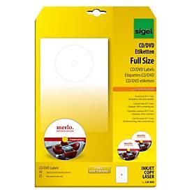 sigel® CD/DVD-Etiketten (LA 505/525)