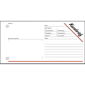 sigel® Kurzbrief KF213, 1/3 DIN A3 quer, 100 Blatt
