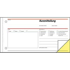 sigel® Kurzmitteilung SD008, 1/3 DIN A3 quer, 2 x 40 Blatt