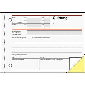 sigel® Quittung SD021 mit MWSt.-Nachweis, selbstdurchschreibend, 25 % mehr Inhalt