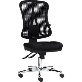 Silla de oficina Topstar HEAD POINT, mecanismo sincronizado, sin reposabrazos, respaldo alto de malla 3D, asiento contorneado,
