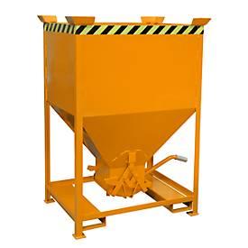 Silobehälter Typ SG 600, Einfahrtaschen, Inhalt 600 Liter, orange RAL 2000