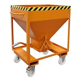 Silocontainer type SRE 375, schaarvergrendeling, inhoud 375 liter, gelakt, oranje RAL 2000