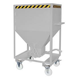 Silocontainer type SRE 600, afschuifvergrendeling, inhoud 600 liter, gegalvaniseerd, gegalvaniseerd