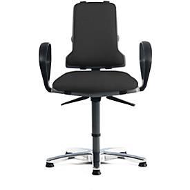 SINTEC 160 werkstoel bekleed met kunstleder, zonder armleuningen