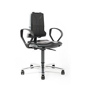 SINTEC 160 werkstoel met bekleding van integraalschuim, zonder armleuningen