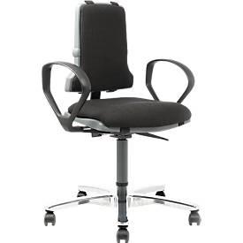 SINTEC 160 werkstoel met bekleding van textiel, zonder armleuningen