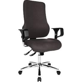 SITNESS 55 bureaustoel, Nord Wool, met armleuningen, antraciet