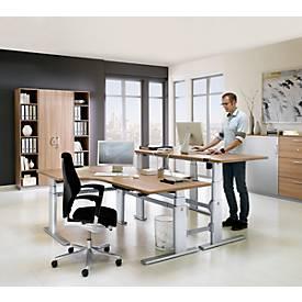 Sitz-/Steharbeitsplatz Winkeltisch, Ansatz links