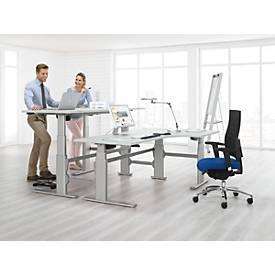 Sitz-/Steharbeitsplatz Winkeltisch, Ansatz rechts