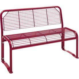 Sitzbank, 2- oder 3-Sitzer, mit Gitternetz, für Außenbereich
