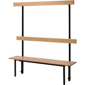 Sitzbank, für Umkleideräume, mit Rückwand, versch. Längen
