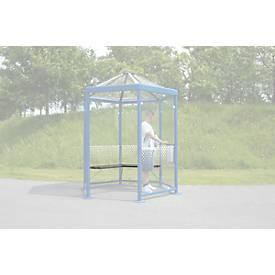 Sitzbank für Raucherpavillon Modell Paris