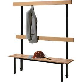 Sitzbank, für Umkleideräume, mit Rückwand, L 995 mm