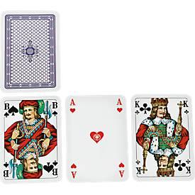 Skat-Spielkarten, inklusive einfarbig blauer Werbeanbringung