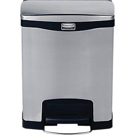 Slim Jim Step-ON Tretabfallbehälter, aus Edelstahl, 30 Liter, wahlweise dualer Eimer