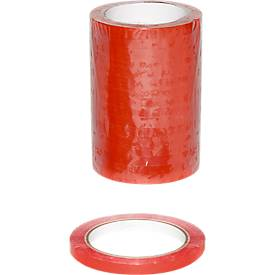 Sluitbanden vinyl, rood, 16 rollen
