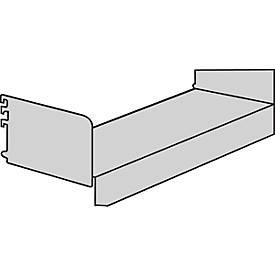 Sockelboden, mit Seitenstützen, für Variabo Freiarmregal, B 1000 x T 350 mm