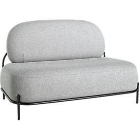 Sofa ADMIRAAL, Retro-Look, B 1245 x T 710 x H 770 mm, grau