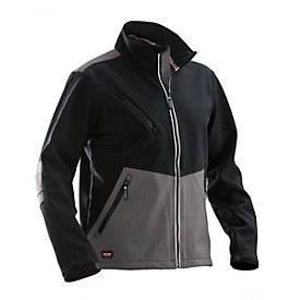 Softshell Advanced schwarz/grau L