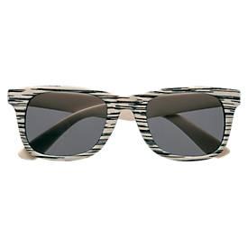 Sonnenbrille Aviator, aus Kunststoff, Holzoptik, UV 400-Schutz